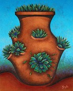 Pottery Paintings - Terracotta I by Gayle Faucette Wisbon
