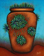 Pottery Paintings - Terracotta II by Gayle Faucette Wisbon