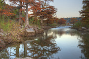 Photos Of Autumn Prints - Texas Hill Country Images - Cypress of Pedernales Falls State Pa Print by Rob Greebon