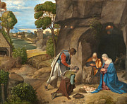 Famous Artists - The Adoration of the Shepherds by Giorgione