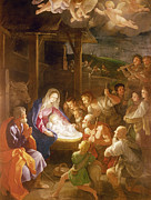 Born Paintings - The Adoration of the Shepherds by Guido Reni