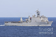 Carter Art - The Amphibious Dock Landing Ship Uss by Stocktrek Images