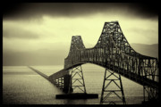 Vintage River Scenes Posters - The Astoria Bridge Poster by David Patterson