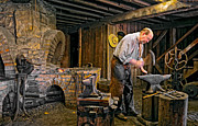 Pioneers Photo Framed Prints - The Blacksmith Framed Print by Steve Harrington