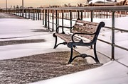 Winter Storm Metal Prints - The Boardwalk Metal Print by JC Findley