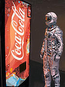 Astronaut Tapestries Textiles - The Coke Machine by Scott Listfield