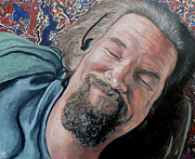 White Painting Metal Prints - The Dude Metal Print by Tom Roderick