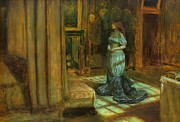 Legend  Paintings - The Eve of St Agnes by John Everett Millais