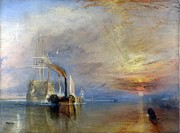 Romanticism Posters - The Fighting Temeraire tugged to her last berth to be broken up Poster by Joseph Mallord William Turner