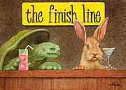 Line Paintings - The Finish Line... by Will Bullas
