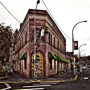 Brick Building Art - The Flatiron Building - Pullman Washington by David Patterson