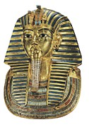 Tutankhamen Prints - The Gold Mask. Ca. 1340 Bc. Gold Mask Print by Everett