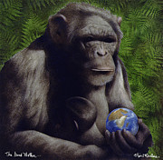 Chimpanzee Prints - The Good Mother... Print by Will Bullas