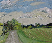 Gravel Road Paintings - The Gravel Road by Francois Fournier