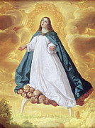 Cherubim Metal Prints - The Immaculate Conception Metal Print by Francisco de Zurbaran