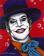 Famous Actor Prints - The Joker Print by Alicia Hayes