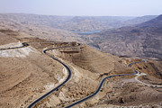 The Kings Highway At Wadi Mujib Jordan Print by Robert Preston