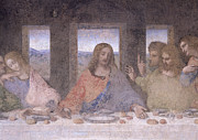 Jesus Art Painting Framed Prints - The Last Supper Framed Print by Leonardo Da Vinci