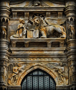 Byzantine Metal Prints - The Lion of Venice Metal Print by Lee Dos Santos