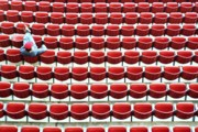 Stadium Seats Art - The Lone Fan by Allen Beatty