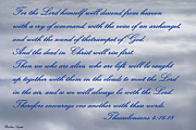 Thessalonians Posters - The Lord Himself Will Descend Poster by Barbara Snyder