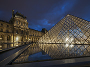 Arts Culture And Entertainment Framed Prints - The Louvre Museum Framed Print by Ayhan Altun