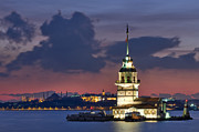 The Maiden's Tower Print by Ayhan Altun