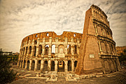 Big Blue Marble Art - The Majestic Coliseum - Rome by Luciano Mortula