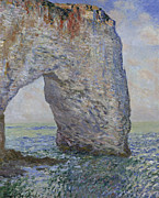 Claude Monet - The Manneporte near...