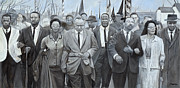Martin Luther King Jr. Paintings - The March by Joe Roache