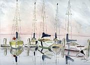 The Marina Print by Eva Ason