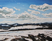 Impressionism Originals - The melting snow in the Appalachians by Francois Fournier
