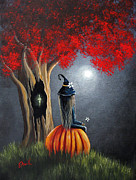 Fantasy Tree Art Prints - The Midnight Hour by Shawna Erback Print by Shawna Erback