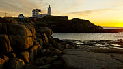 Nubble Lighthouse Prints - The Nubble Print by Steven Ralser