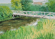 Wcu Prints - The Old Bridge Print by Sheena Kohlmeyer