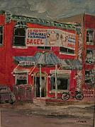 Michael Litvack Paintings - The Other Bagel Factory by Michael Litvack