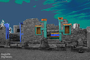 Abstract Sights Digital Art Prints - The Palaestra - Kourion-Apollon Print by Augusta Stylianou