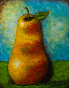 """abstract Realism"" Paintings - The Pear by Molly Roberts"