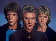 Singer Songwriter Painting Framed Prints - The Police Framed Print by Paul  Meijering