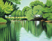 Beaver Pastels - The Quiet River Again by Robert Coppen