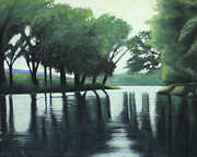 Beaver Pastels - The Quiet River by Robert Coppen