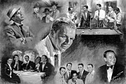 Celebrities Mixed Media - The Rat Pack  by Viola El