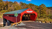 Taftsville Metal Prints - The rebuilt Taftsville Covered Bridge. Metal Print by New England Photography