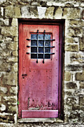 France Doors Framed Prints - The Red Door Framed Print by Paul Topp