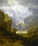 Famous Artists - The Rocky Mountains Landers Peak by Albert Bierstadt