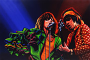 Rock And Roll Painting Posters - The Rolling Stones Poster by Paul  Meijering