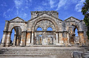 Church Ruins Framed Prints - The ruins of the church of St Simeon Syria Framed Print by Robert Preston