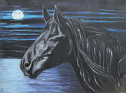 Black Horse Pastels Prints - The Scent Is Fresh Print by Jeanne Fischer