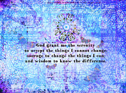 The Serenity Prayer Posters - The Serenity Prayer  Poster by Marigold Winterstamp