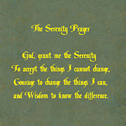 Prayer Digital Art Posters - The Serenity Prayer Poster by Philip Ralley
